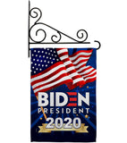 Biden 2020 - Patriotic Americana Vertical Impressions Decorative Flags HG170074 Made In USA