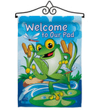 Frog - Pets Nature Vertical Impressions Decorative Flags HG110041 Made In USA