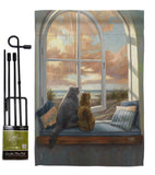 Enjoying the View - Pets Nature Vertical Impressions Decorative Flags HG110057 Made In USA
