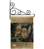 Wagging Along For The Ride - Pets Nature Vertical Impressions Decorative Flags HG110063 Made In USA