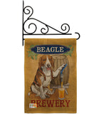 Beagle Brewery - Pets Nature Vertical Impressions Decorative Flags HG110101 Made In USA