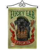 Lucky Lab Lager - Pets Nature Vertical Impressions Decorative Flags HG110102 Made In USA