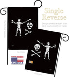 Walter Kennedy - Pirate Coastal Vertical Impressions Decorative Flags HG107041 Made In USA