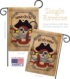 Ahoy Pirate - Pirate Coastal Vertical Impressions Decorative Flags HG107059 Made In USA