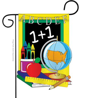 School - School & Education Special Occasion Vertical Applique Decorative Flags HG115024