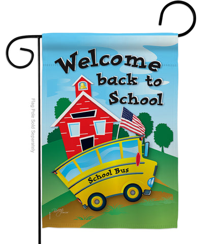 School Bus - School & Education Special Occasion Vertical Impressions Decorative Flags HG115090 Made In USA