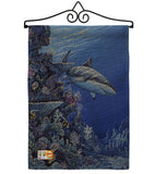 Shark Reef - Sea Animals Coastal Vertical Impressions Decorative Flags HG107050 Made In USA