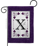Classic X Initial - Simply Beauty Interests Vertical Impressions Decorative Flags HG130024 Made In USA