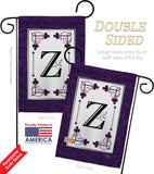 Classic Z Initial - Simply Beauty Interests Vertical Impressions Decorative Flags HG130026 Made In USA