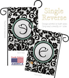 Damask E Initial - Simply Beauty Interests Vertical Impressions Decorative Flags HG130057 Made In USA