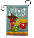 Chili Pepper Cinco de Mayo - Southwest Country & Primitive Vertical Impressions Decorative Flags HG115125 Made In USA