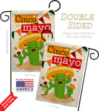 Cactus Fiesta Cinco de Mayo - Southwest Country & Primitive Vertical Impressions Decorative Flags HG115127 Made In USA