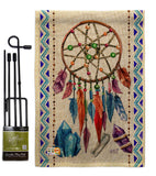 Dreamcatcher - Southwest Country & Primitive Vertical Impressions Decorative Flags HG137010 Made In USA