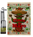 Cinco de Mayo - Southwest Country & Primitive Vertical Impressions Decorative Flags HG137012 Made In USA