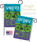 Bike Ride - Sports Interests Vertical Impressions Decorative Flags HG109040 Made In USA