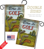 Born to Golf - Sports Interests Vertical Impressions Decorative Flags HG109065 Made In USA
