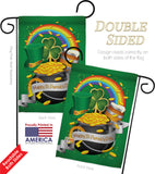 Happy St. Patrick's Day - St Patrick Spring Vertical Impressions Decorative Flags HG102027 Made In USA