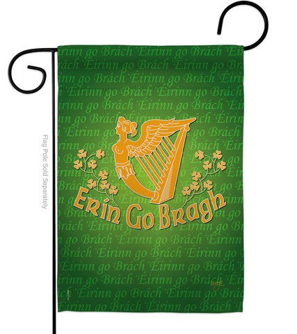 Erin Go Bragh - St Patrick Spring Vertical Impressions Decorative Flags HG102030 Made In USA