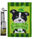 St. Pat's Puppy - St Patrick Spring Vertical Impressions Decorative Flags HG102029 Made In USA