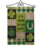 St Patricks Lucky Day - St Patrick Spring Vertical Impressions Decorative Flags HG102056 Made In USA