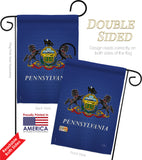 Pennsylvania - States Americana Vertical Impressions Decorative Flags HG108081 Made In USA