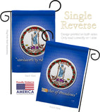 Virginia - States Americana Vertical Impressions Decorative Flags HG108088 Made In USA