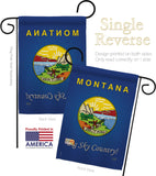 Montana - States Americana Vertical Impressions Decorative Flags HG108127 Made In USA