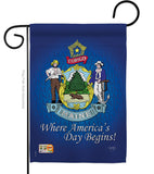 Maine - States Americana Vertical Impressions Decorative Flags HG108133 Made In USA