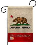The Golden State - States Americana Vertical Impressions Decorative Flags HG108177 Made In USA