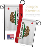 California State - States Americana Vertical Impressions Decorative Flags HG108229 Made In USA