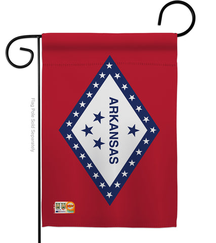 Arkansas - States Americana Vertical Impressions Decorative Flags HG140504 Made In USA