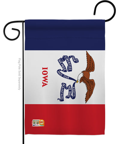 Iowa - States Americana Vertical Impressions Decorative Flags HG140516 Made In USA