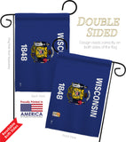 Wisconsin - States Americana Vertical Impressions Decorative Flags HG140550 Made In USA