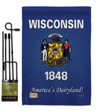 Wisconsin - States Americana Vertical Impressions Decorative Flags HG108108 Made In USA