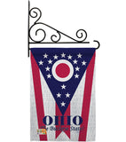 Ohio - States Americana Vertical Impressions Decorative Flags HG108175 Made In USA