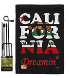 California Dreamin* - States Americana Vertical Impressions Decorative Flags HG108176 Made In USA