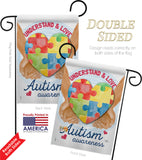 Understand Autism Awareness - Support Inspirational Vertical Impressions Decorative Flags HG115131 Made In USA