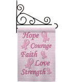 Hope, Faith, Courage - Support Inspirational Vertical Impressions Decorative Flags HG115080 Made In USA