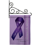 Alzheimer's - Support Inspirational Vertical Impressions Decorative Flags HG115093 Made In USA