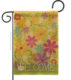 Welcome Daisy Garden - Sweet Home Inspirational Vertical Impressions Decorative Flags HG100052 Made In USA