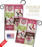 Welcome Butterfly Floral - Sweet Home Inspirational Vertical Impressions Decorative Flags HG100056 Made In USA