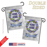 Blooming Home Sweet Home - Sweet Home Inspirational Vertical Impressions Decorative Flags HG137014 Printed In USA