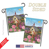 Welcome Bird House - Sweet Home Inspirational Vertical Impressions Decorative Flags HG100049 Printed In USA