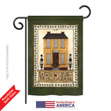Welcome Yellow House - Sweet Home Inspirational Vertical Impressions Decorative Flags HG100068 Printed In USA
