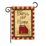 Bless Our Home - Sweet Home Inspirational Vertical Impressions Decorative Flags HG100069 Printed In USA