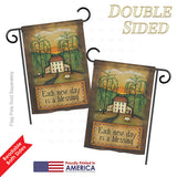 Each New Day - Sweet Home Inspirational Vertical Impressions Decorative Flags HG100072 Printed In USA