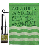 Welcome Breathe In - Sweet Home Inspirational Vertical Impressions Decorative Flags HG100058 Made In USA