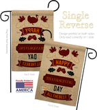 Thanksgiving Day The Best - Thanksgiving Fall Vertical Impressions Decorative Flags HG137114 Made In USA