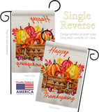 Thanksgiving Pumpkin - Thanksgiving Fall Vertical Impressions Decorative Flags HG137303 Made In USA