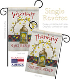 Thanksgiving Wreath - Thanksgiving Fall Vertical Impressions Decorative Flags HG192271 Made In USA